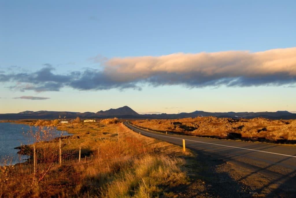 Islandská krajina na podzim